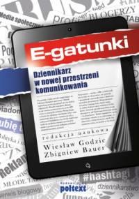 E-gatunki dziennikarskie - Godzic Zbigniew Bauer Wiesław