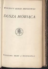 Dusza mówiąca - Wincenty Korab-Brzozowski