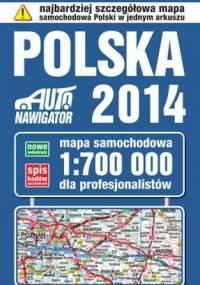 Polska 2014. Mapa samochodowa. 1:700 000 KOMPAS
