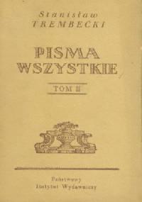 Pisma wszystkie - Tom II - Stanisław Trembecki