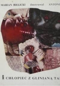 Chłopiec z glinianą tabliczką - Marian Bielicki